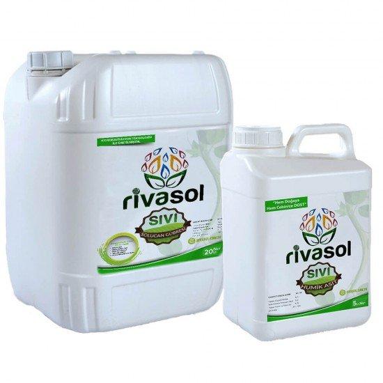 20 litre Sıvı Solucan Gübresi ve 5 litre Hümik Asit Kombin  | Rivasol