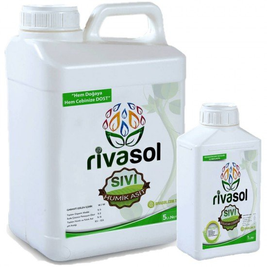 5 litre Hümik Asit ve 1 litre Sıvı Solucan Gübresi Kombin  | Rivasol