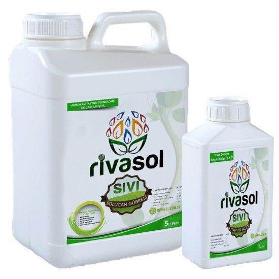 5 litre Sıvı Solucan Gübresi ve 1 litre Hümik Asit Kombin  | Rivasol