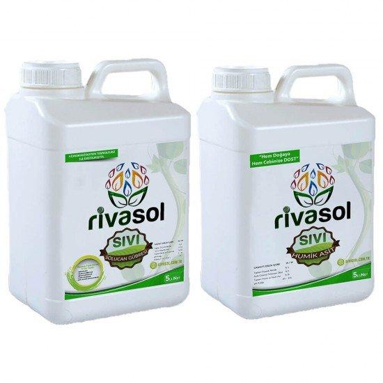 5 litre Sıvı Solucan Gübresi ve 5 litre Hümik Asit Kombin  | Rivasol