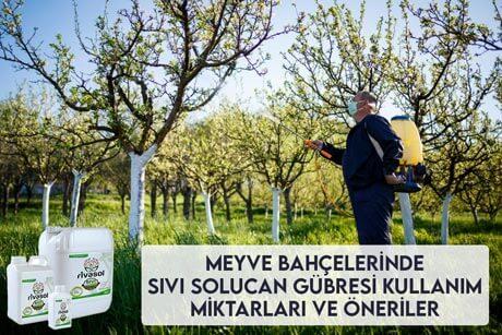 Meyve Bahçelerinde Sıvı Solucan Gübresi Kullanım Miktarları ve Önerileri